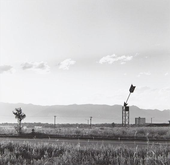 Real estate sign. Dusk, Colorado Springs, Colorado