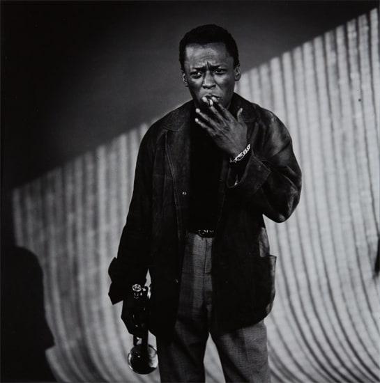 Miles Davis with Cigarette, Los Angeles