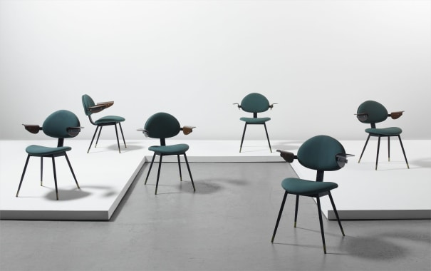 Set Of Six Lutrario Chairs From The Ballroom Turin