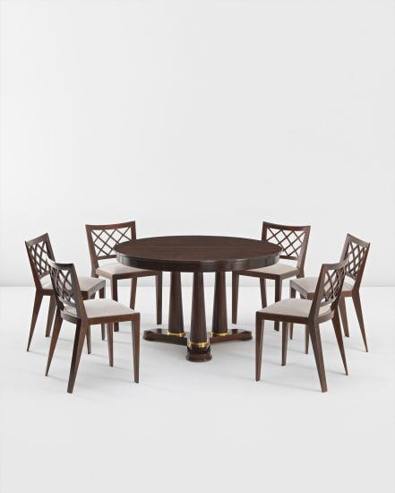 Super Jean Royere Extendable Dining Table And Six Croisillon Ocoug Best Dining Table And Chair Ideas Images Ocougorg