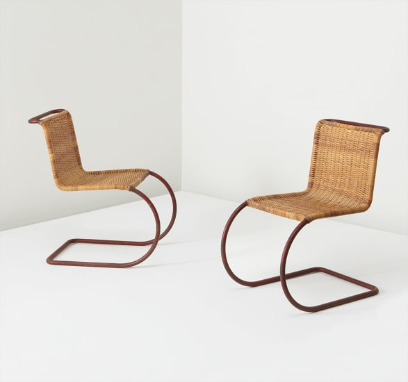Brilliant Ludwig Mies Van Der Rohe Pair Of Chairs Model No Mr 10 Creativecarmelina Interior Chair Design Creativecarmelinacom