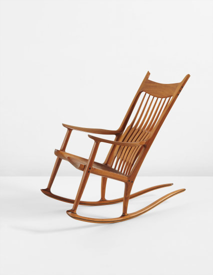 Surprising Sam Maloof Rocking Chair 1988 Phillips Ibusinesslaw Wood Chair Design Ideas Ibusinesslaworg