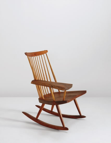 Fantastic George Nakashima Single Arm Rocking Chair 1974 Phillips Pdpeps Interior Chair Design Pdpepsorg