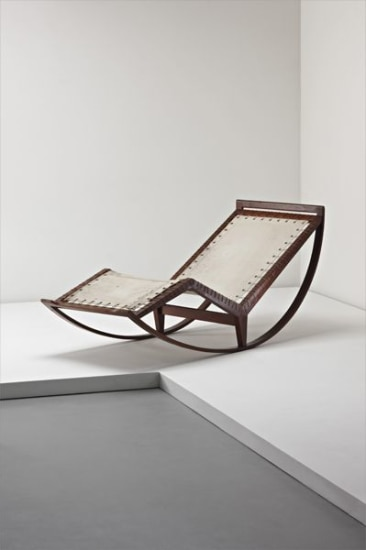 Rare rocking chaise, model no. PS16