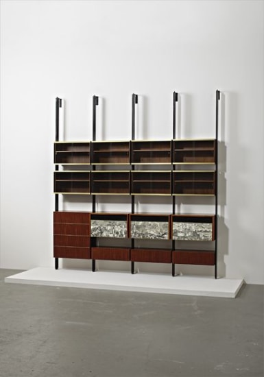 "Unique ""Cittá di Carte"" modular bookcase"