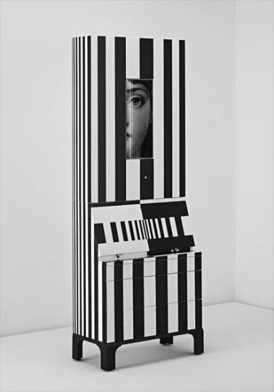 "Unique ""Black and White,"" trumeau"