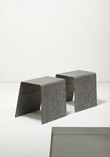 """Pair of """"Medium Volume"""" stools"""
