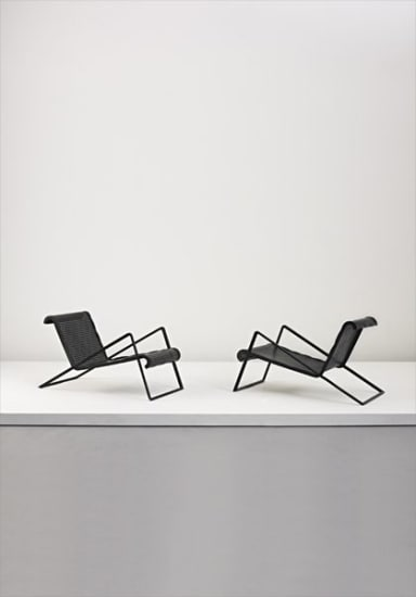 Pair of chaises longues