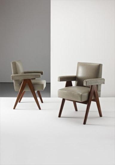 """Pair of """"Senate"""" armchairs, from Chandigarh, India"""