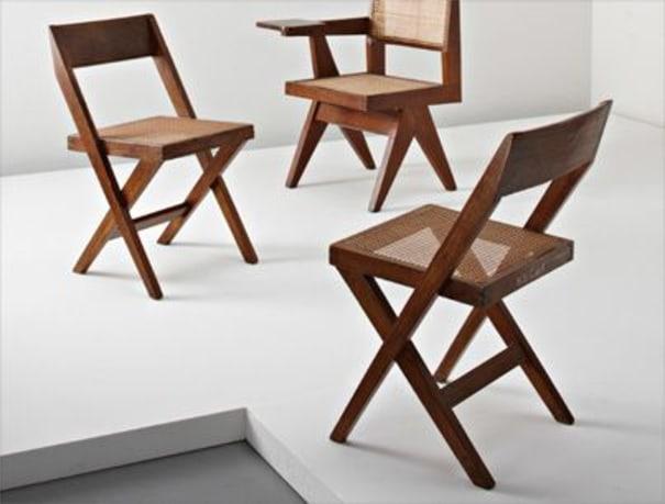 """Pair of """"Library"""" chairs, from Chandigarh, India"""
