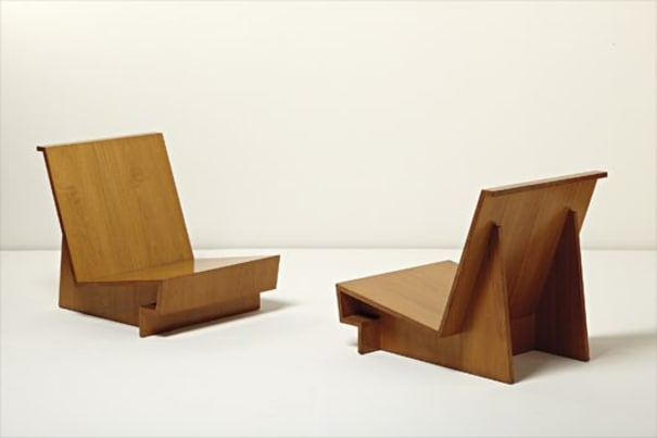 "Pair of ""Usonian"" chairs"