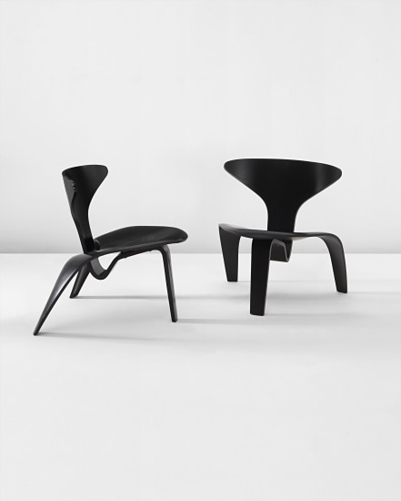 Pair of lounge chairs, model no. PK 0