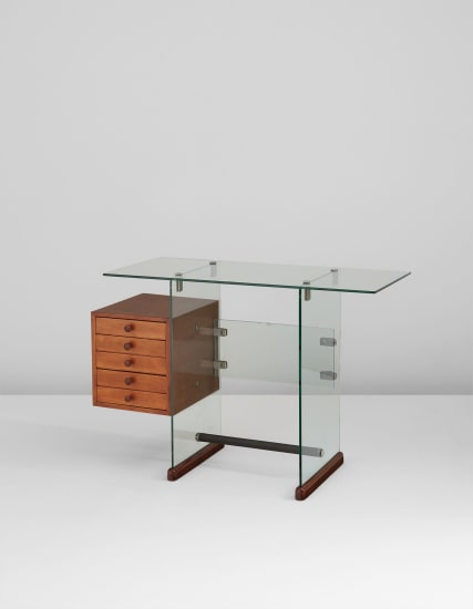 Gio Ponti Desk From The Vetrocoke Offices Milan 1939