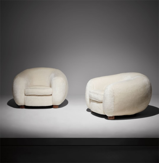 "Pair of ""Ours Polaire"" armchairs"