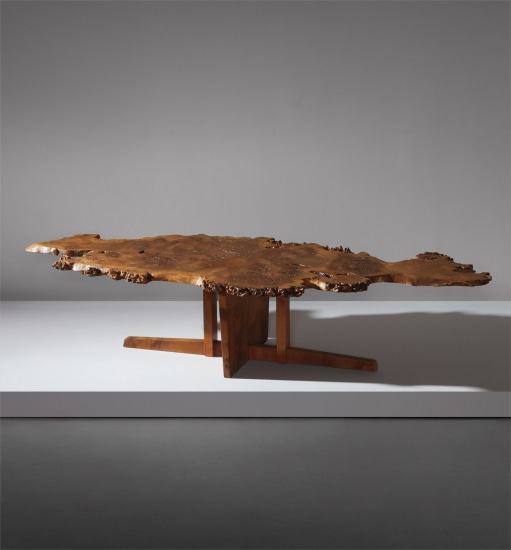 Phillips George Nakashima Rare Coffee Table With Special Early Variant Minguren Base 1966 Design Evening Sale New York Tuesday December 13 2016 Lot 415