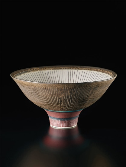 Unique footed bowl