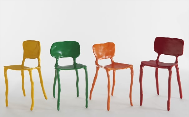 Set of four 'Clay' chairs