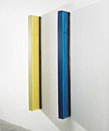 Two works: (i) Untitled (Green); (ii) Untitled (Blue)