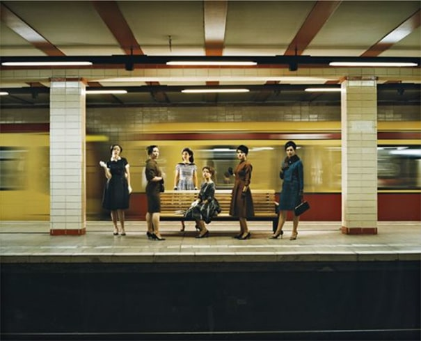 Women in the S-Bahn (photographic still from The Rape of the Sabine Women)