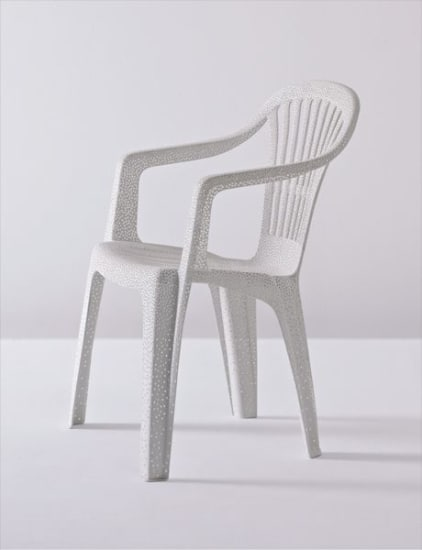 'White Plastic Chair'