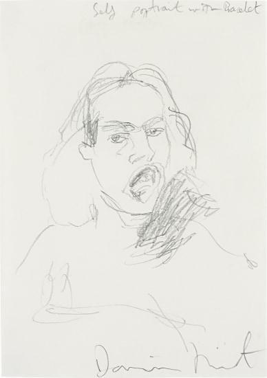 Damien Hirst Self Portrait With Bracelet 2000 Phillips