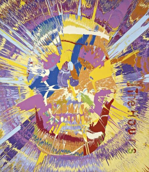 Damien Hirst Beautiful Psychedelic Rays Of Dancing Love Hours Spin Painting 2008 Phillips