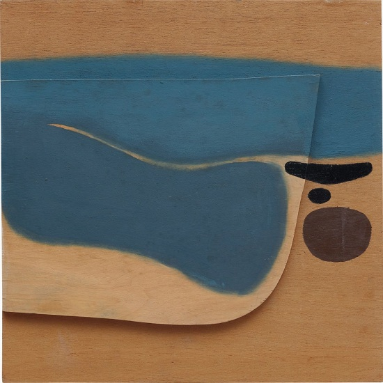 Composition, blue image