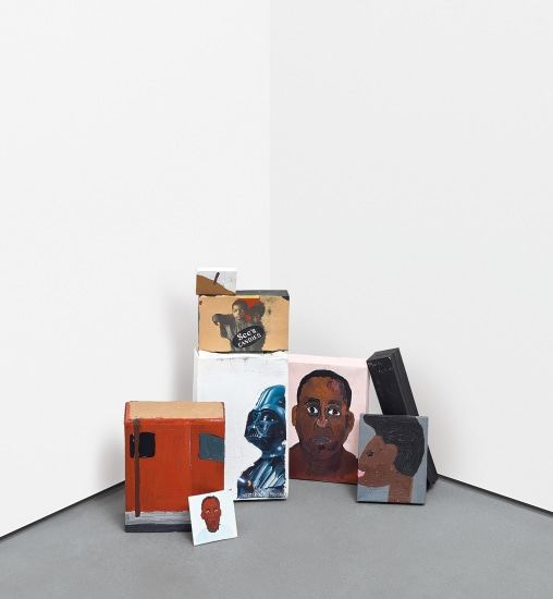 Eight works: Untitled (Painted Cardboard Boxes)