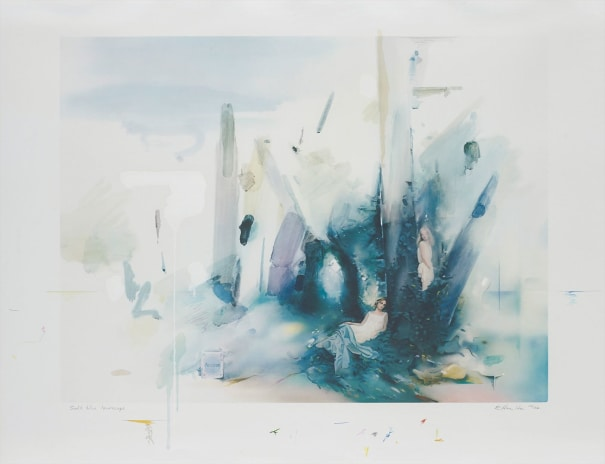 Soft Blue Landscape
