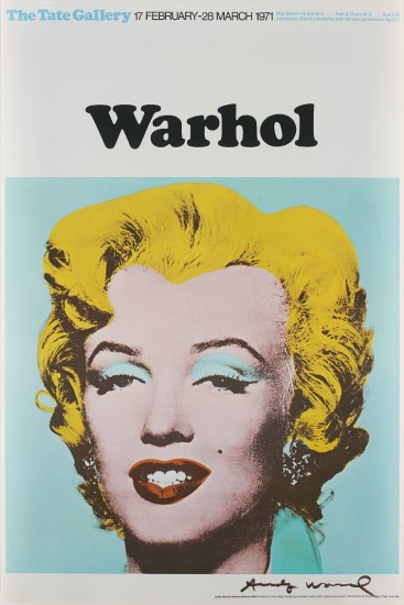 Marilyn (Exhibition poster for Warhol: The Tate Gallery)