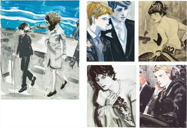 Jackie and John; Prince Harry and Prince William; John; Kiss (Tony); and Prince William