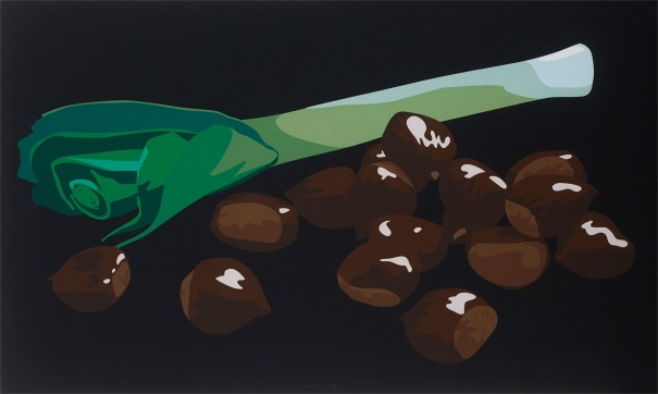 Still Life with Chestnuts and Leek