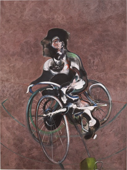 Portrait of George Dyer Riding a Bicycle