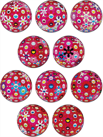 Flowerball (3D) - Papyrus; Flowerball (3D) – Turn Red!; Groping for the Truth; Letter to Picasso; There is Nothing Eternal in this World. That is Why You Are Beautiful; Flowerball (3D) – Blue, Red; Hey! You! Do You Feel What I Feel; Flowerball (3D) – Red, Pink, Blue; Comprehending the 51st Dimension; and Flowerball (3D) – Red Ball