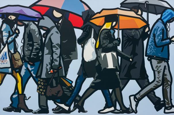 Walking in the Rain, London