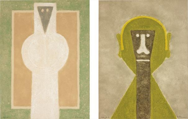 Personaje Blanco (White Person); and Cabeza en Amarillo (Head in Yellow)