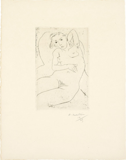 Nu assis- les yeux noirs (Seated Nude - with Black Eyes)