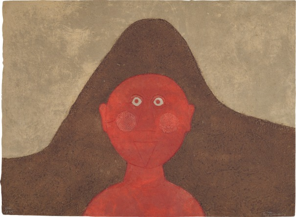 Cabeza En Rojo (Head in Red), from Rufino Tamayo 15 Aguafuertes (15 Etchings)