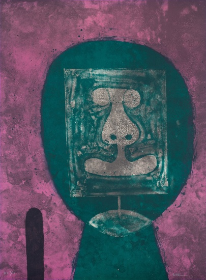 Cabeza en Verde (Head in Green), from Rufino Tamayo 15 lithografías (15 Lithographs)