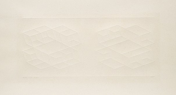 Embossed Linear Construction 1-B