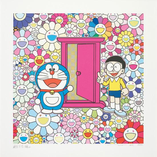Anywhere Door (Dokodemo Door) in the Field of Flowers