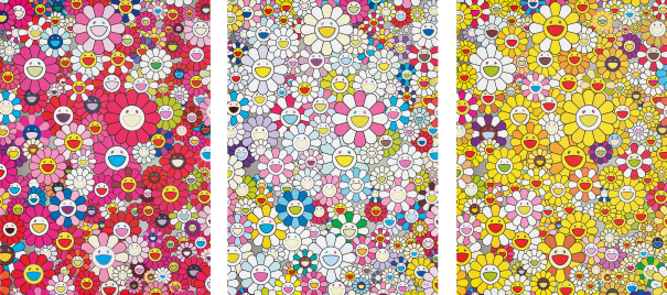 An homage to Monopink 1960 A; An Homage to Yves Klein Multicolor C; and An homage to Monogold 1960 A