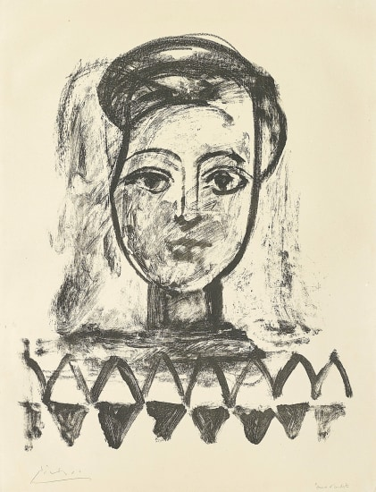 Jeune femme au corsage à triangles (Young Woman with Triangle Bodice)
