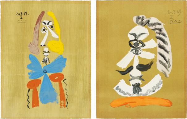 Portrait imaginaire (Imaginary Portraits): two plates