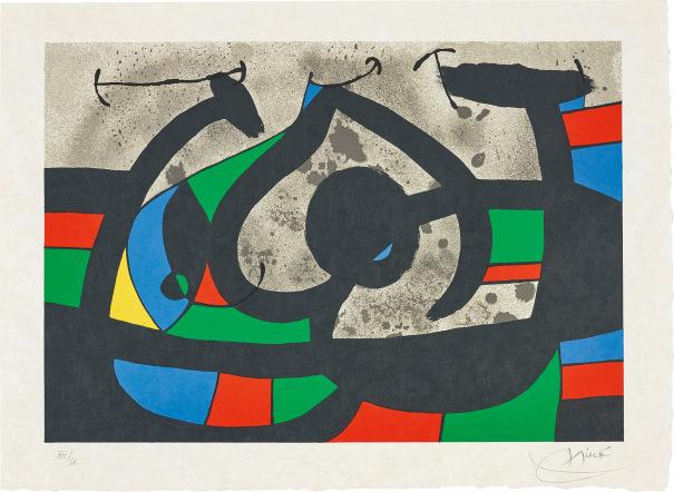 Joan Miró Le Lézard Aux Plumes Dor The Lizard With