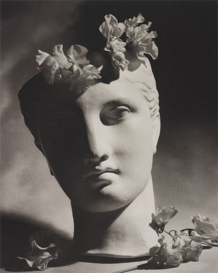 Classical Head with Flowers