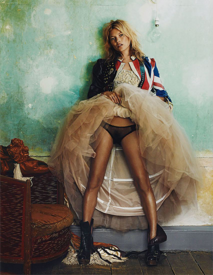 Kate Moss, for British Vogue, October