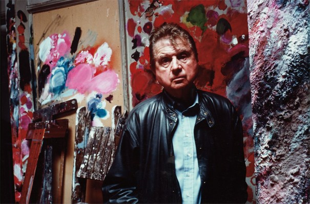 Francis Bacon in his studio, Reece Mews