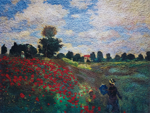 The Poppy Field at Argenteuil, after Claude Monet from Pictures of Pigment