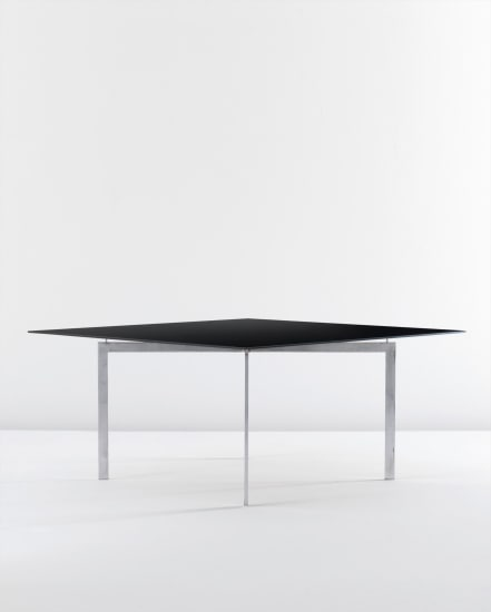 Rare 'Tugendhat' coffee table, model no. MR 150/3, produced by Bamberg